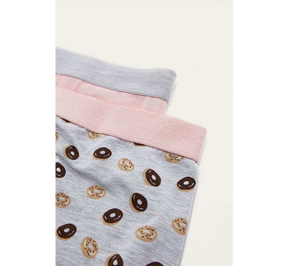 Slide View: 3: UO Grey Donut Boxer Trunks Pack