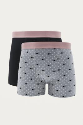 Urban Outfitters Heart Boxer Trunks Pack – Mens M