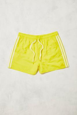 adidas Yellow and White Swim Shorts Yellow