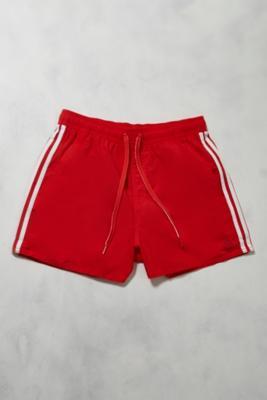 Image of adidas - Badeshorts in Rot und Weiß - Herren L