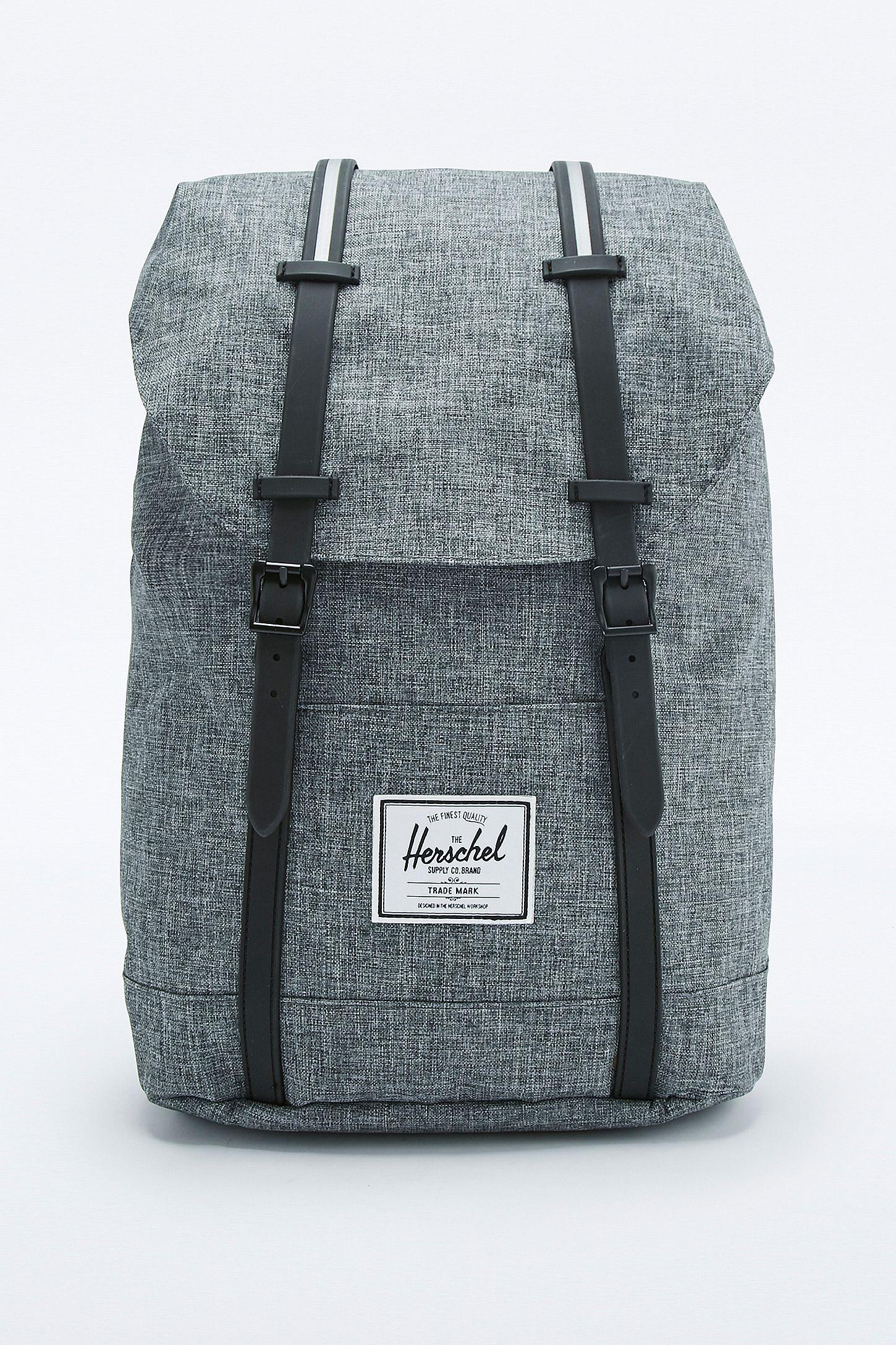2ba97113021b Herschel Supply co. Retreat Raven Crosshatch Backpack