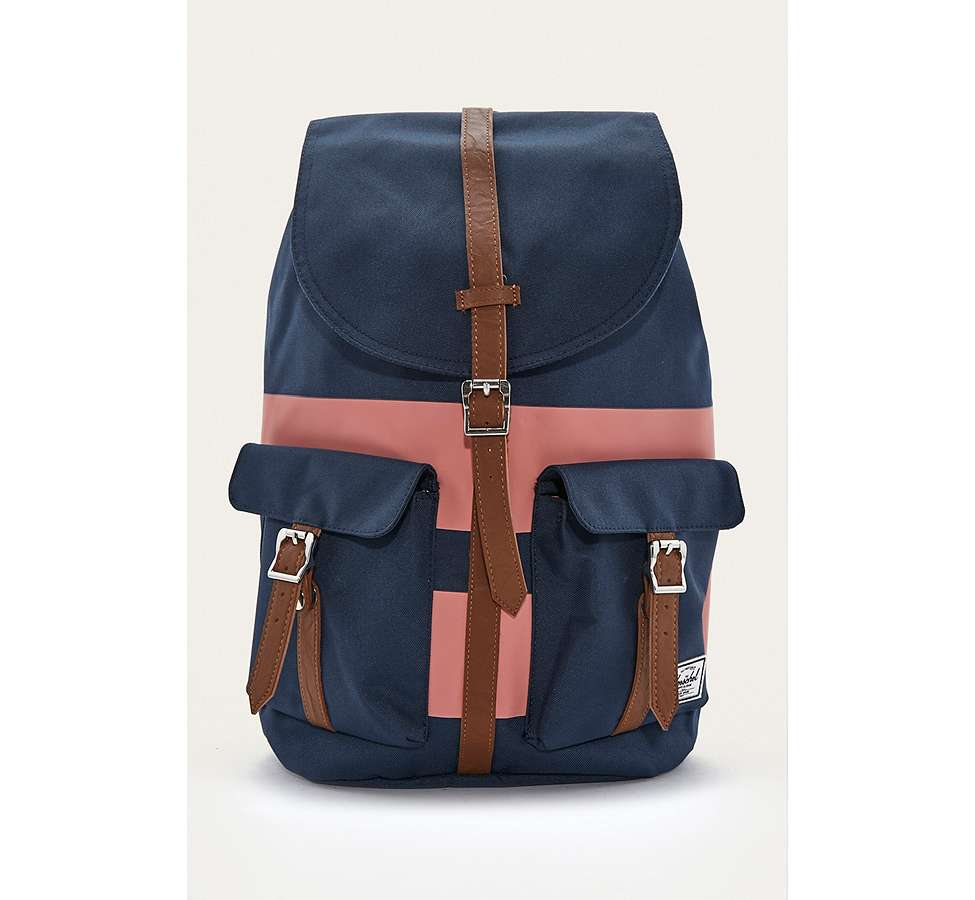 Slide View: 1: Herschel Supply Co. Dawson Navy Rugby Stripe Backpack