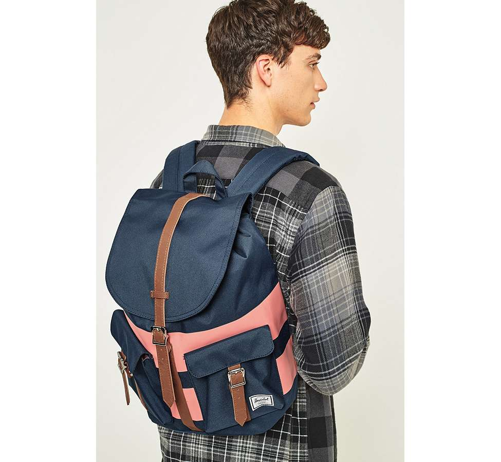 Slide View: 2: Herschel Supply Co. Dawson Navy Rugby Stripe Backpack