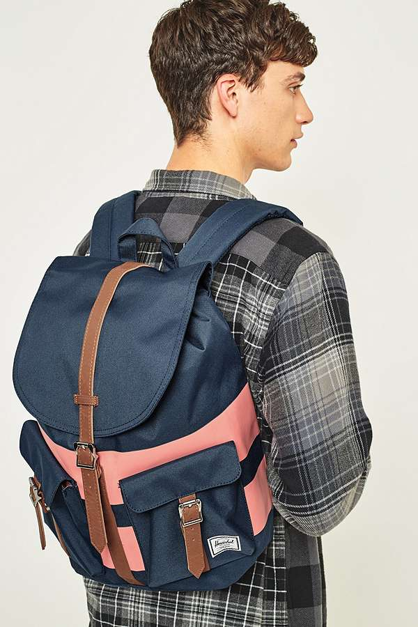 Slide View: 2: Herschel Supply co. - Sac à dos Dawson à rayures rugby bleu marine