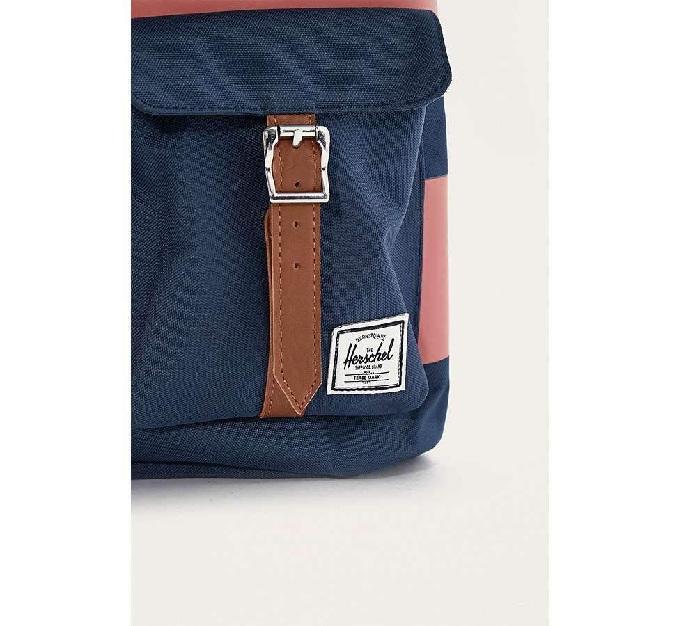 Slide View: 3: Herschel Supply Co. Dawson Navy Rugby Stripe Backpack