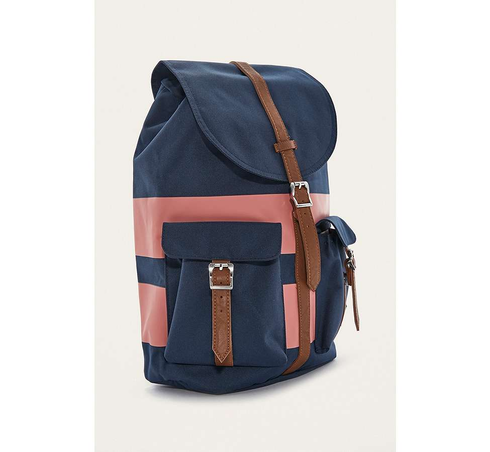 Slide View: 4: Herschel Supply Co. Dawson Navy Rugby Stripe Backpack