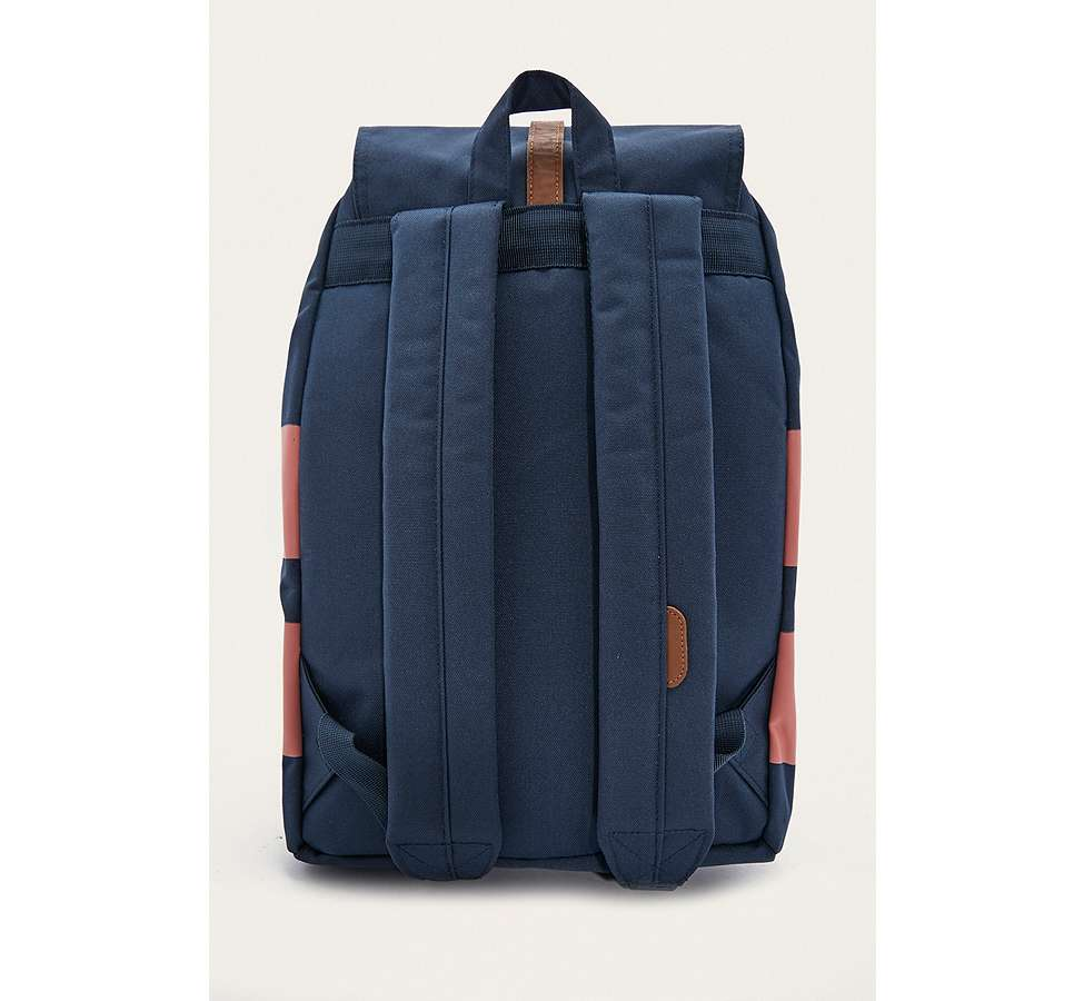Slide View: 5: Herschel Supply Co. Dawson Navy Rugby Stripe Backpack