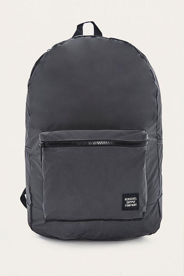 Herschel Supply Co. Reflective Black Packable Daypack Backpack ... 3918143a6c