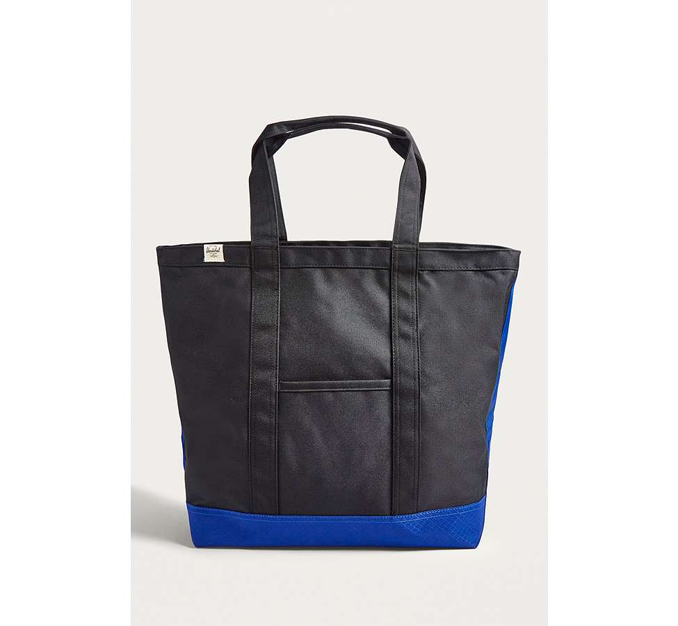 Slide View: 1: Herschel Supply Co. Bamfield Black and Surf Tote Bag