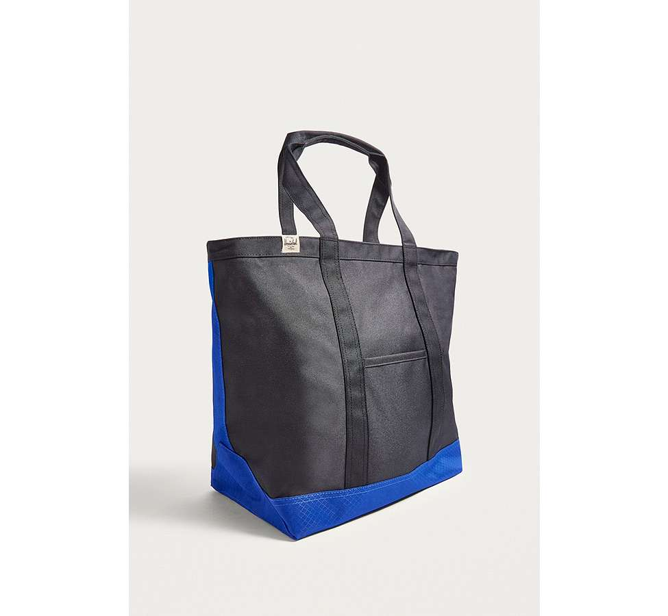Slide View: 4: Herschel Supply Co. Bamfield Black and Surf Tote Bag