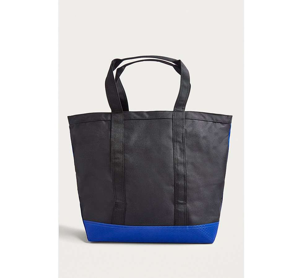 Slide View: 5: Herschel Supply Co. Bamfield Black and Surf Tote Bag