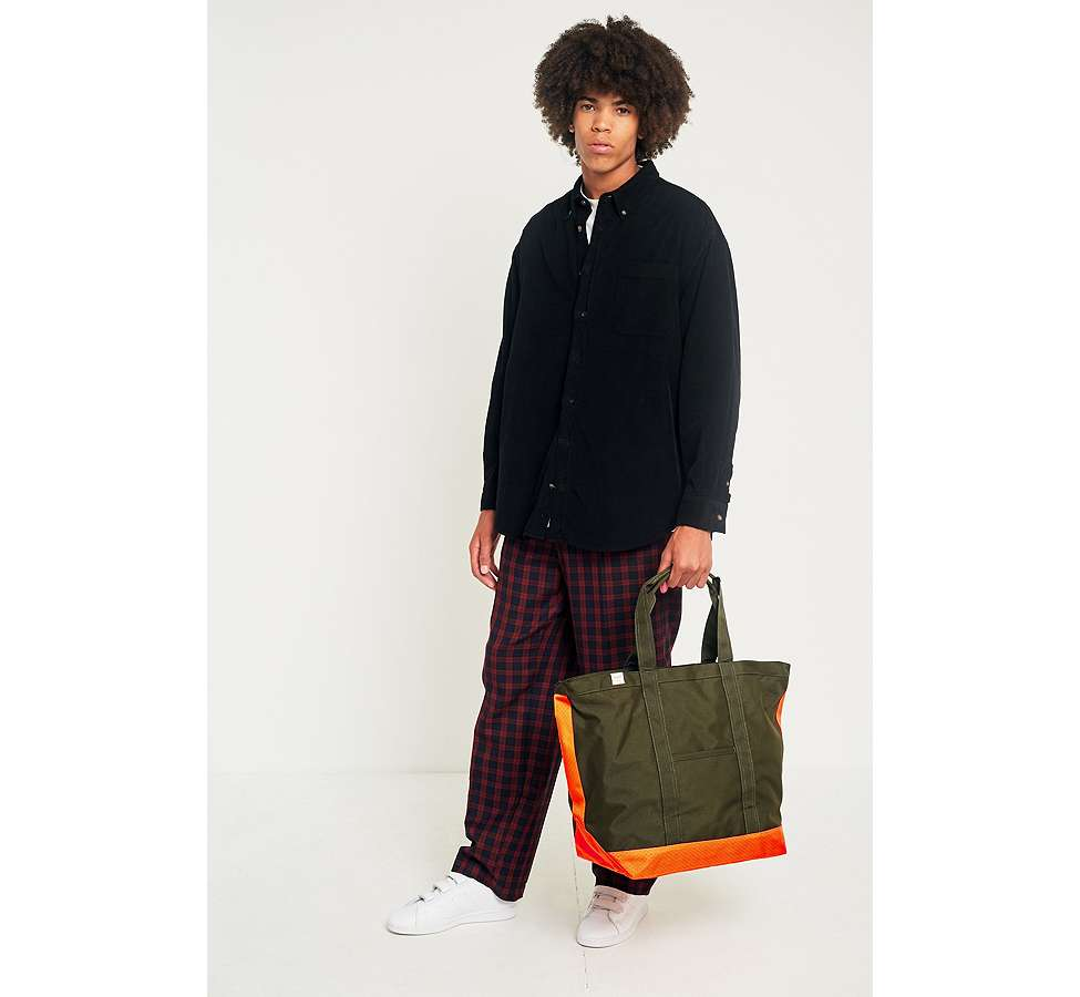 Slide View: 2: Herschel Supply Co. - Fourre-tout Bamfield vert sapin et orange