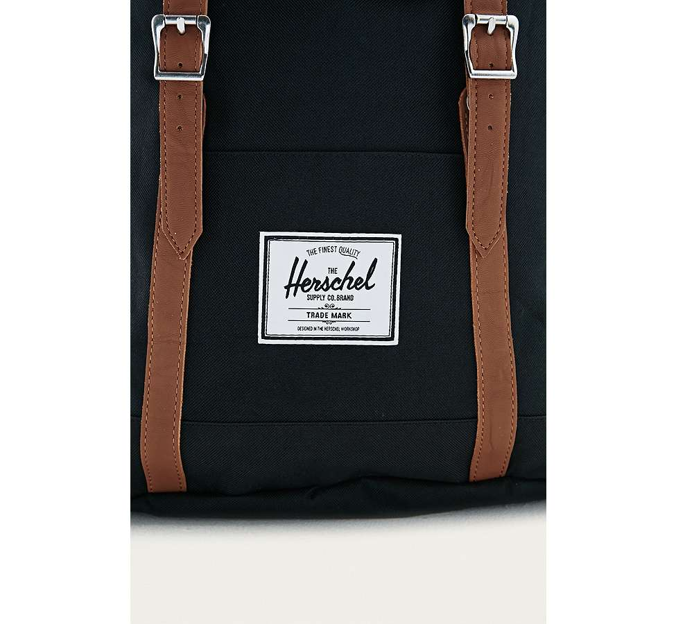 "Slide View: 4: Herschel Supply Co. – Rucksack ""Retreat"" in Schwarz"