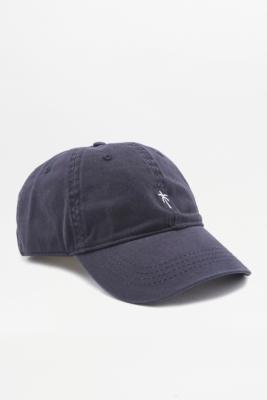 Navy Palm Motif Cap Navy