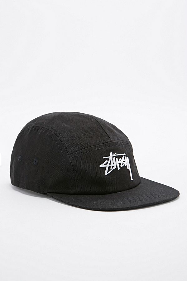 Stussy 5-Panel Cap in Black  63917fe2a