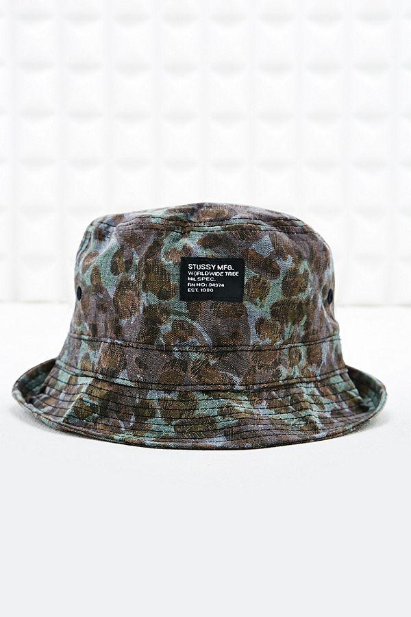 Stussy Bucket Hat in Cheetah Camo Print  72e8d03baaf