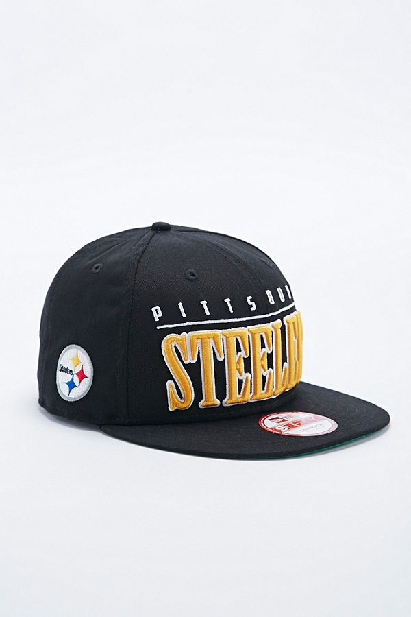 New Era 9Fifty Pittsburgh Steelers Snapback Cap in Black  a0f0d3dd43eb