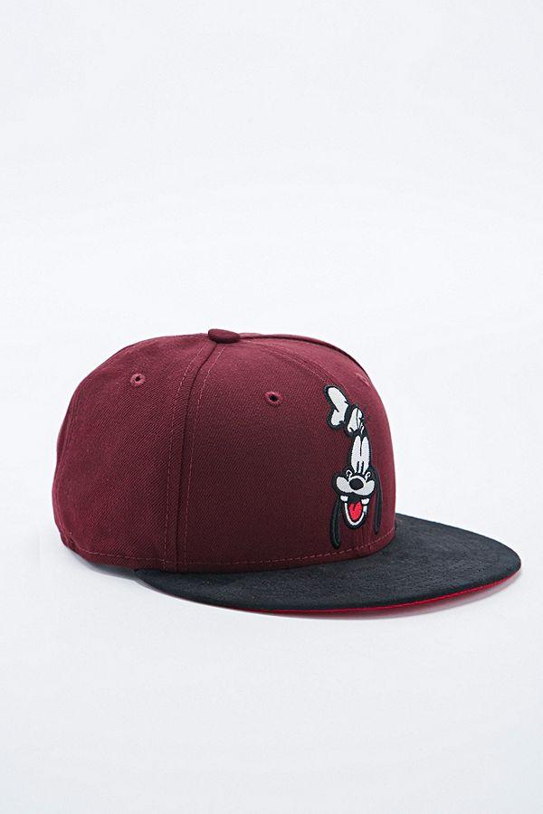 New Era 9Fifty Melton Goofy Snapback Cap in Burgundy  0e05826576b