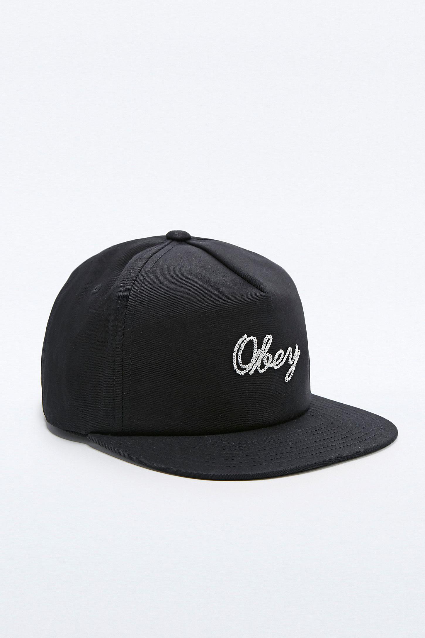 88c821c46fe3a Obey Euclid Snapback Cap in Black