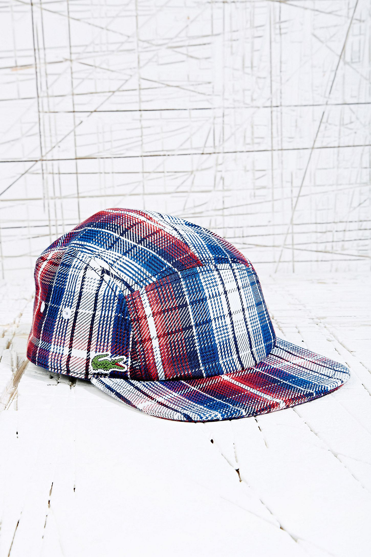 6dffe4c1b0f Lacoste 5 Panel Cap in Check Print. Click on image to zoom. Hover to zoom.  Double Tap to Zoom