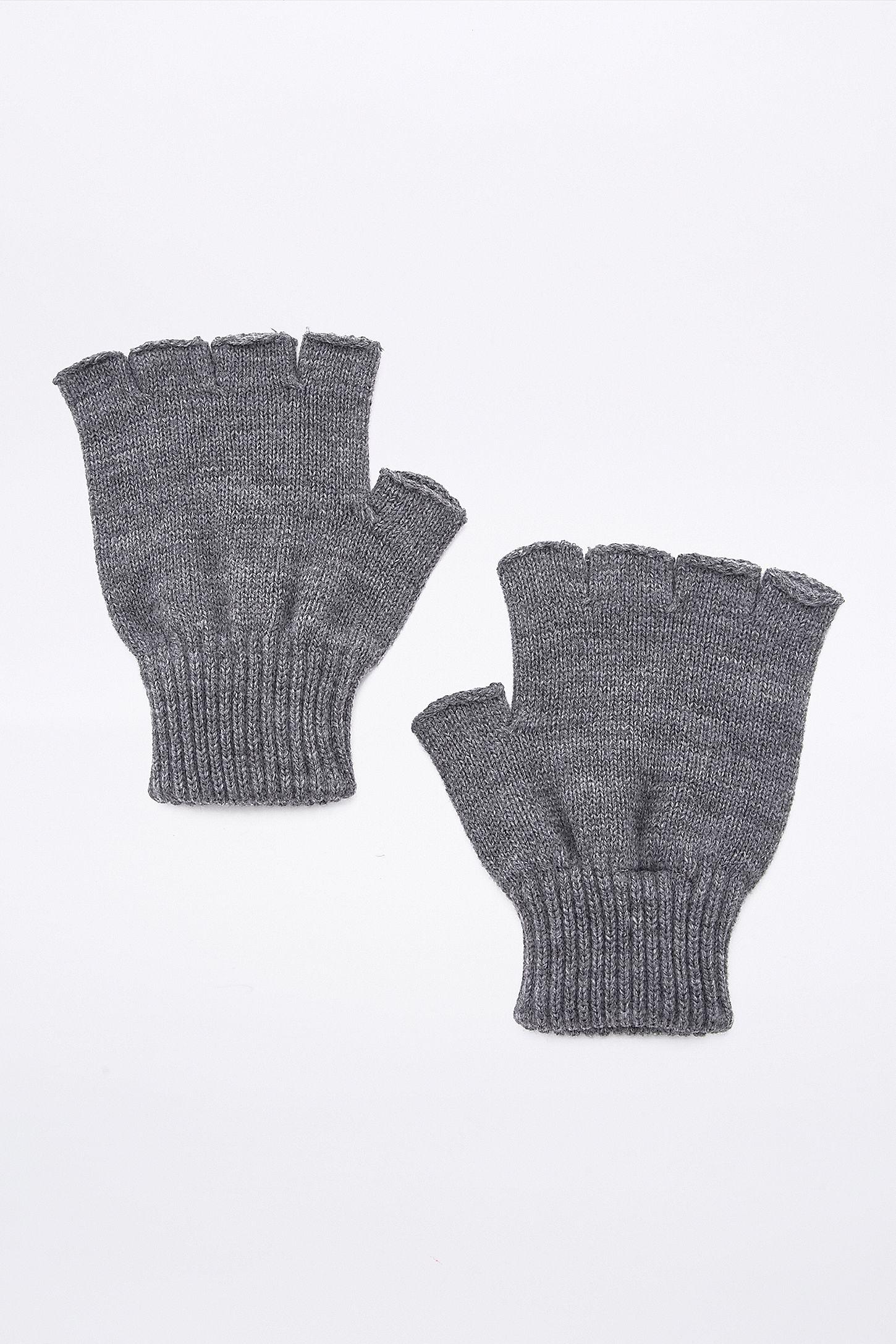 Grey Fingerless Gloves | Urban Outfitters UK