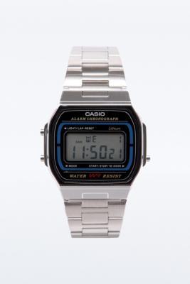 Casio - Montre rétro à affichage numérique - Argent - Homme ALL