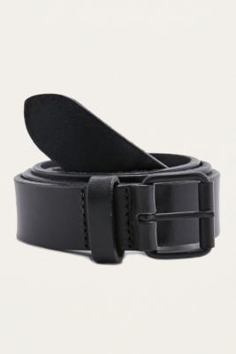 Black Clean Leather Belt Black