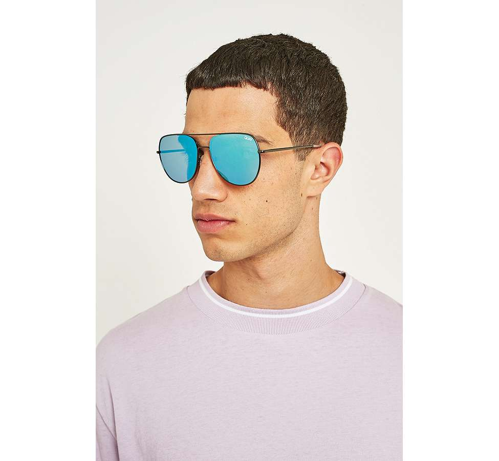 Slide View: 2: Quay Living Large Blue Lens Sunglasses