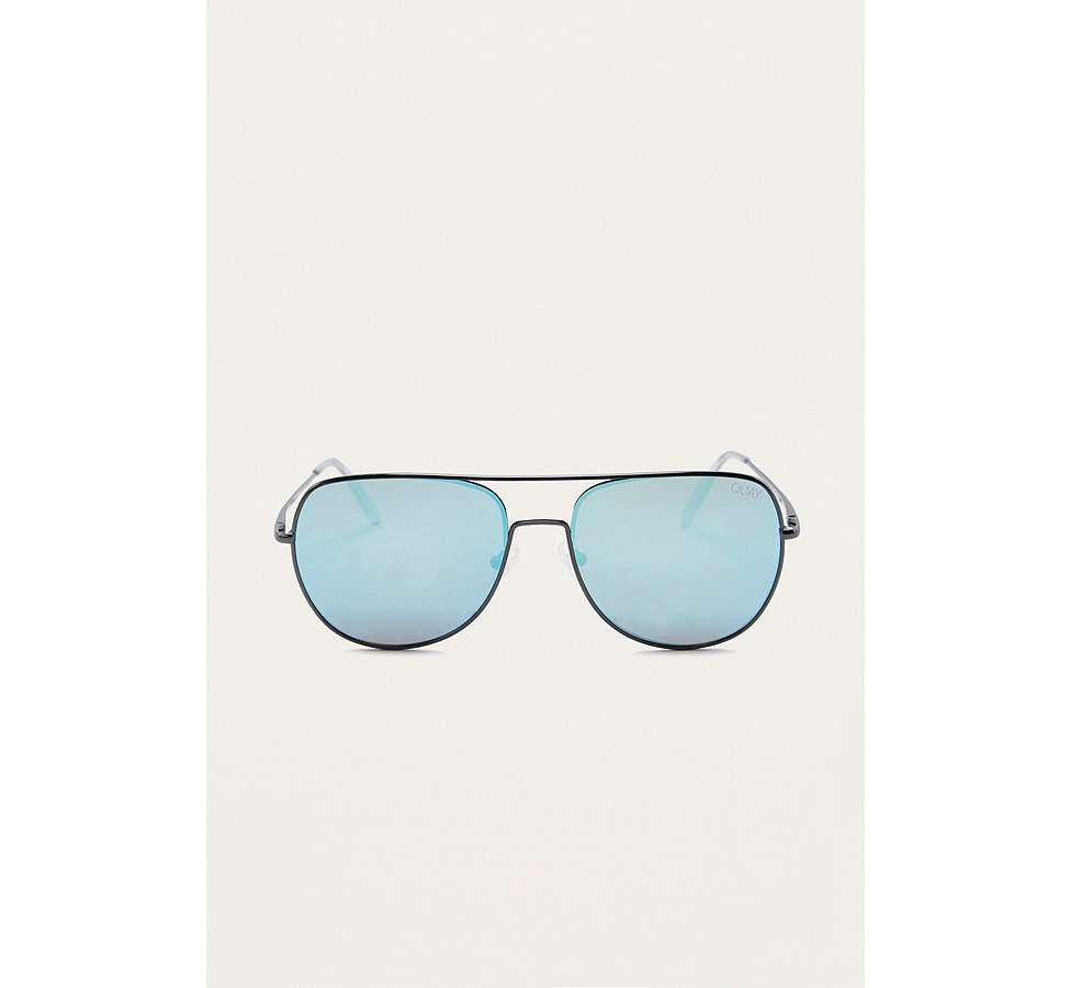Slide View: 3: Quay Living Large Blue Lens Sunglasses
