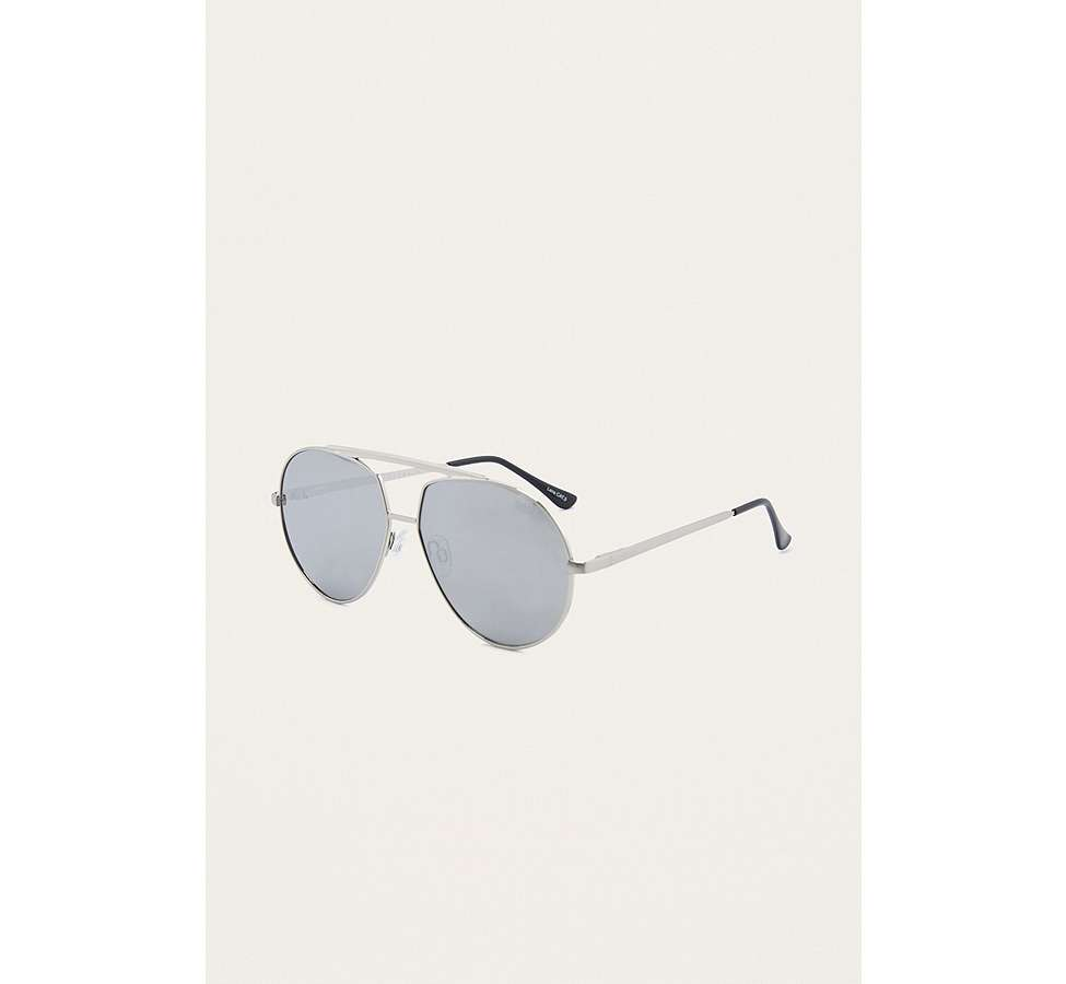 Slide View: 1: Quay Blaze Silver Sunglasses