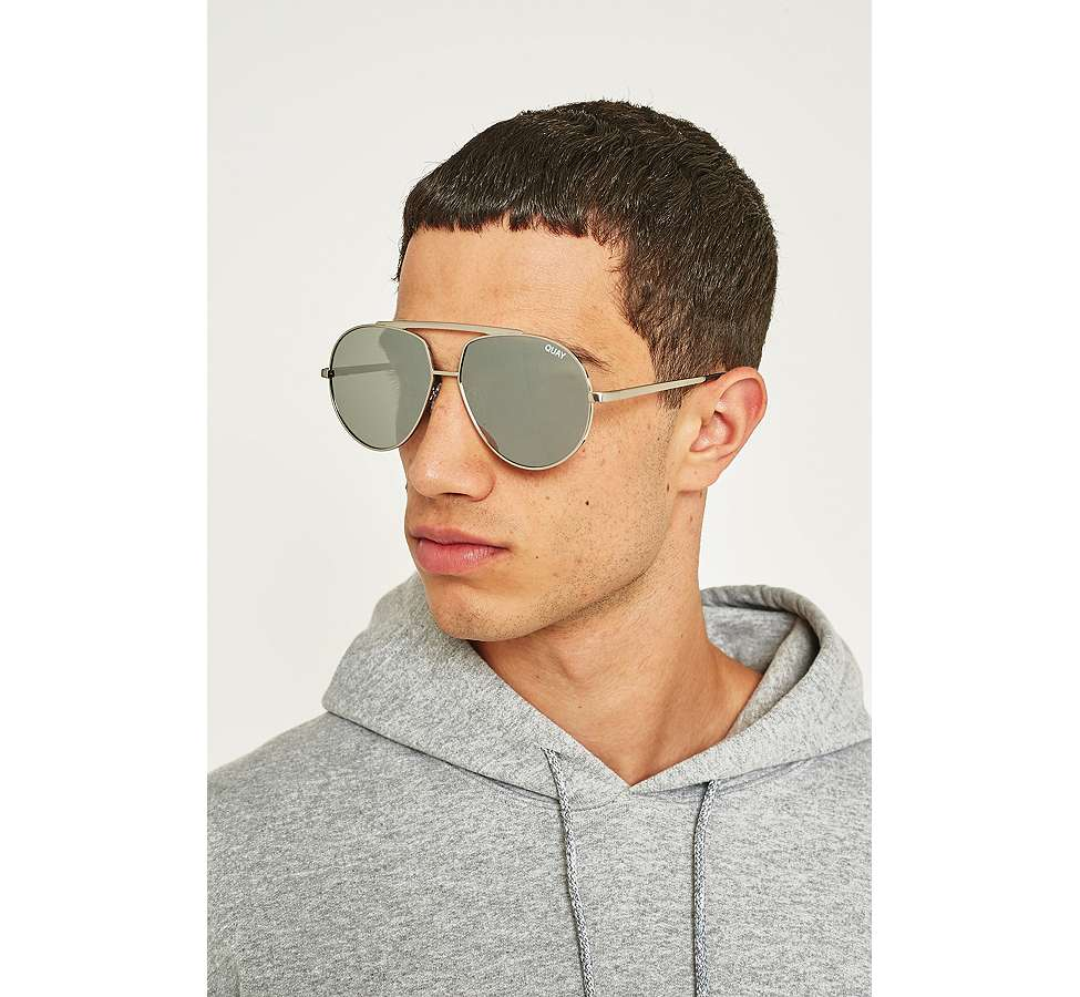 Slide View: 2: Quay Blaze Silver Sunglasses