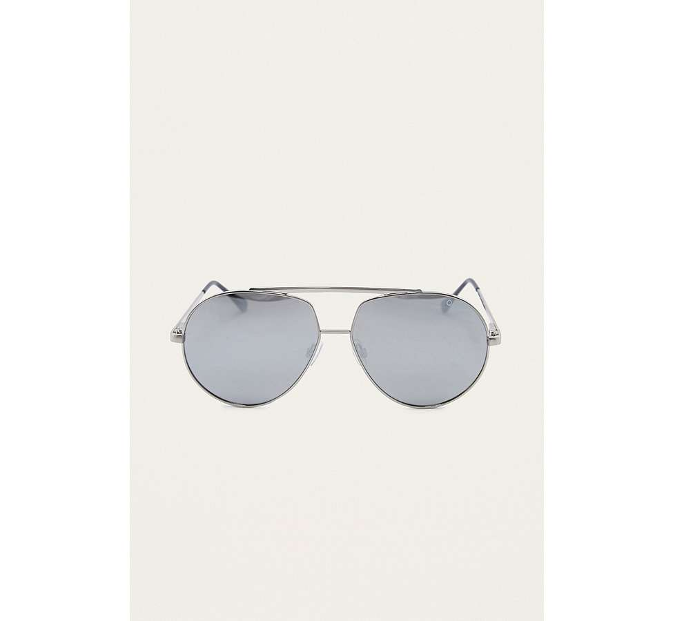 Slide View: 3: Quay Blaze Silver Sunglasses