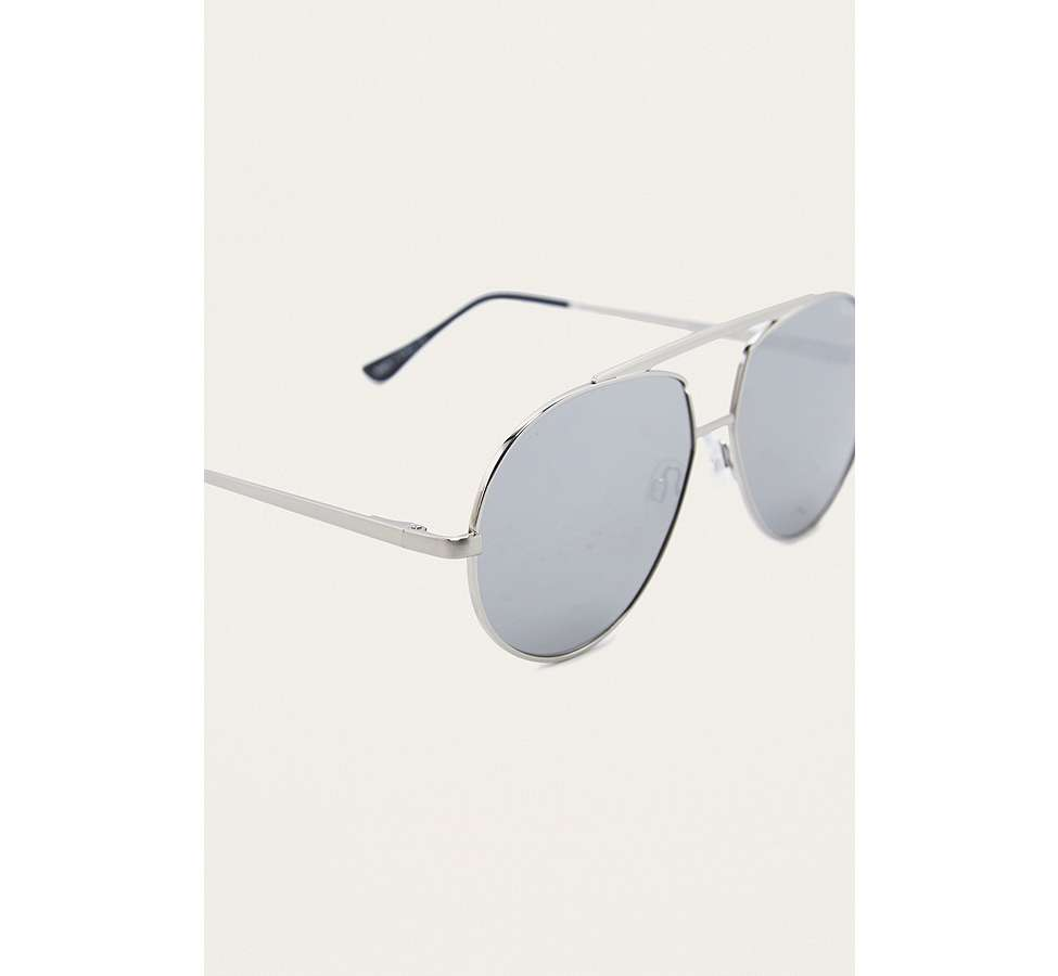 Slide View: 4: Quay Blaze Silver Sunglasses